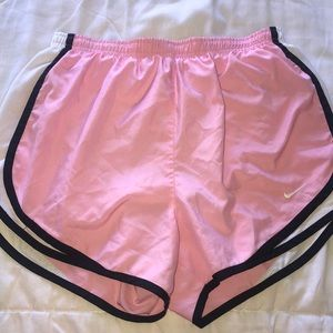 Nike tempo run shorts, light pink and black, small